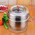High Quality Non Magnetic Stainless Steel Steamer Pot