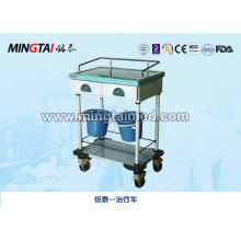 Steel spray treatment cart