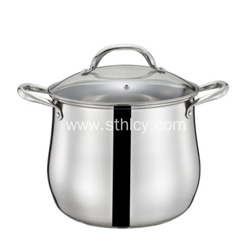 Double Ear Arc Double Layer Sauce Pot
