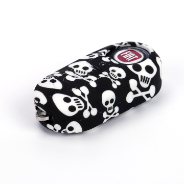 Skull Color Fob remore cover para Fiat