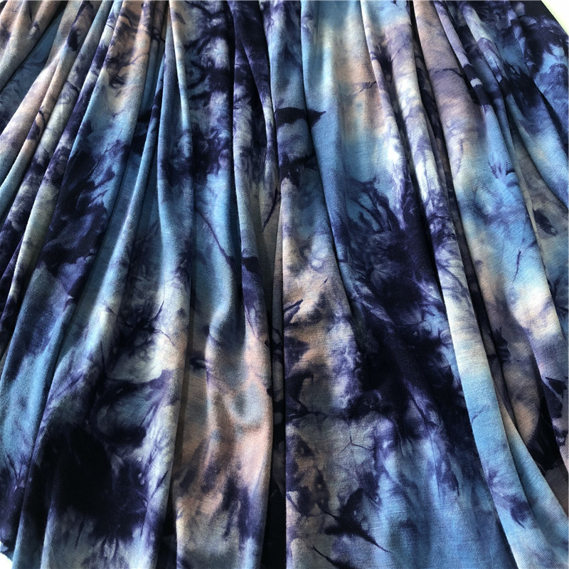 Rayon single jersyey tie dyed fabric