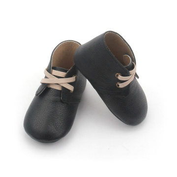 Black Genuine Leather Winter Shoes