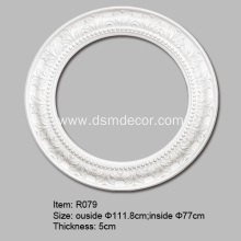 New Fashion Design for Foam Ceiling Roses Large PU Ceiling Rings for Lights export to Italy Importers