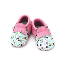 Soft Baby Leather Moccasins Girl Toddler Shoe