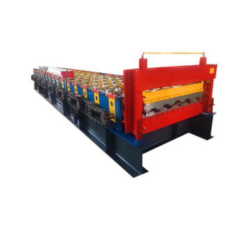 Container car panel colored steel roll forming machine