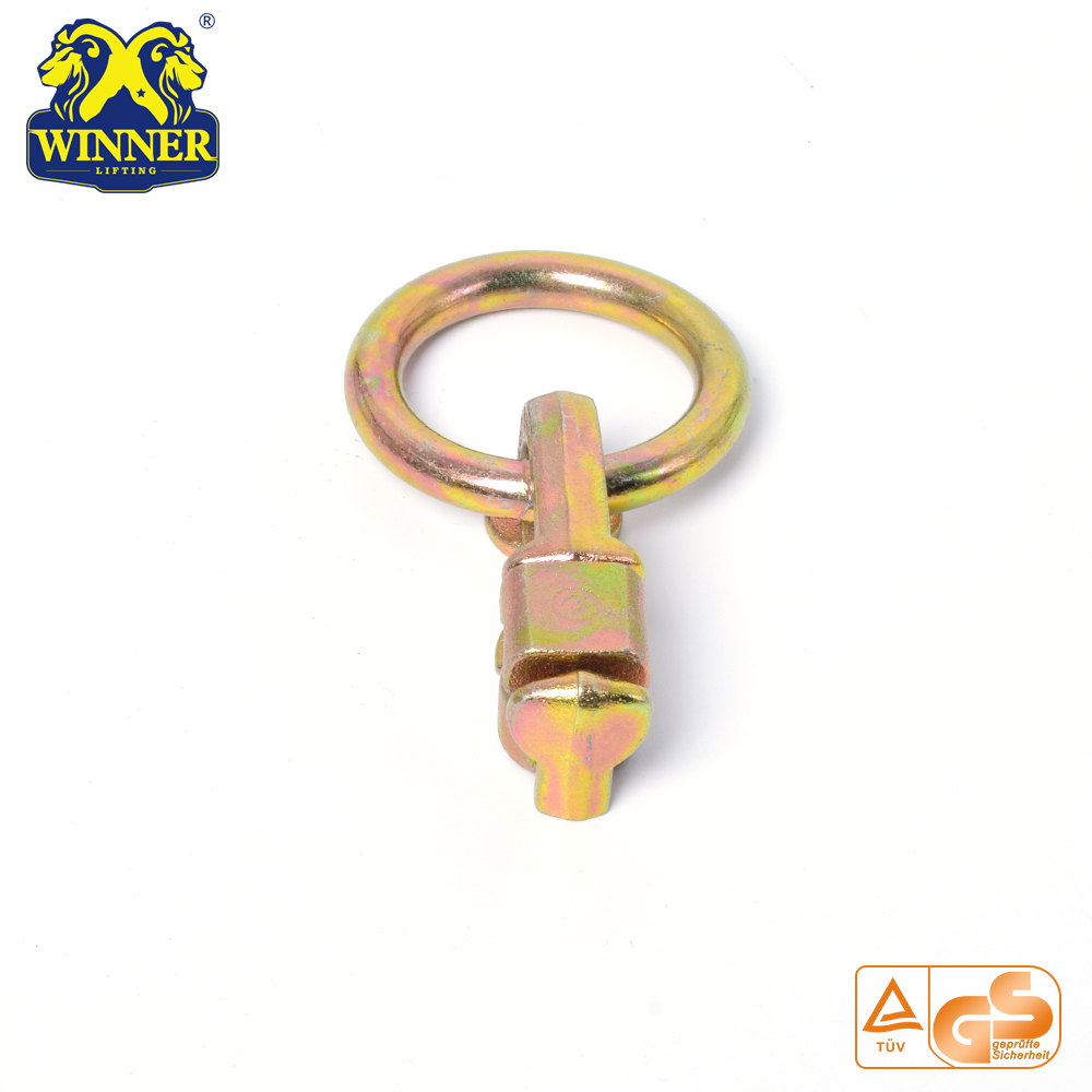 L Track Zinc Plated Double Stud Fitting With O Ring