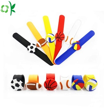 Newest Ball Silicone Slap Bracelet for Game