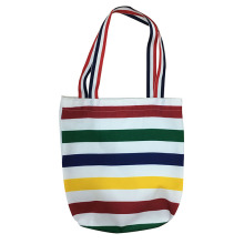 Christmas rainbow stripe tote candy bag