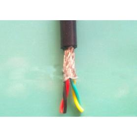 Insulated PVC twisted braided shielded flexible cable