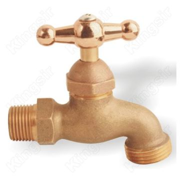 Professional for Bibcock Taps Golden color handle Brass Bibcocks export to Sudan Exporter