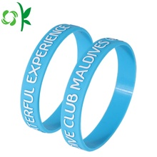 Capital Letter Custom Made Bracelets Sky Blue Bands