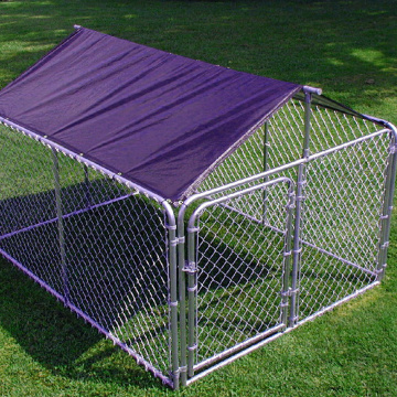 Chain Link Galvanized Dog Run