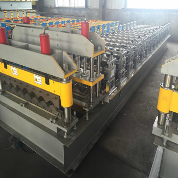 Metal steel roof tile press machine