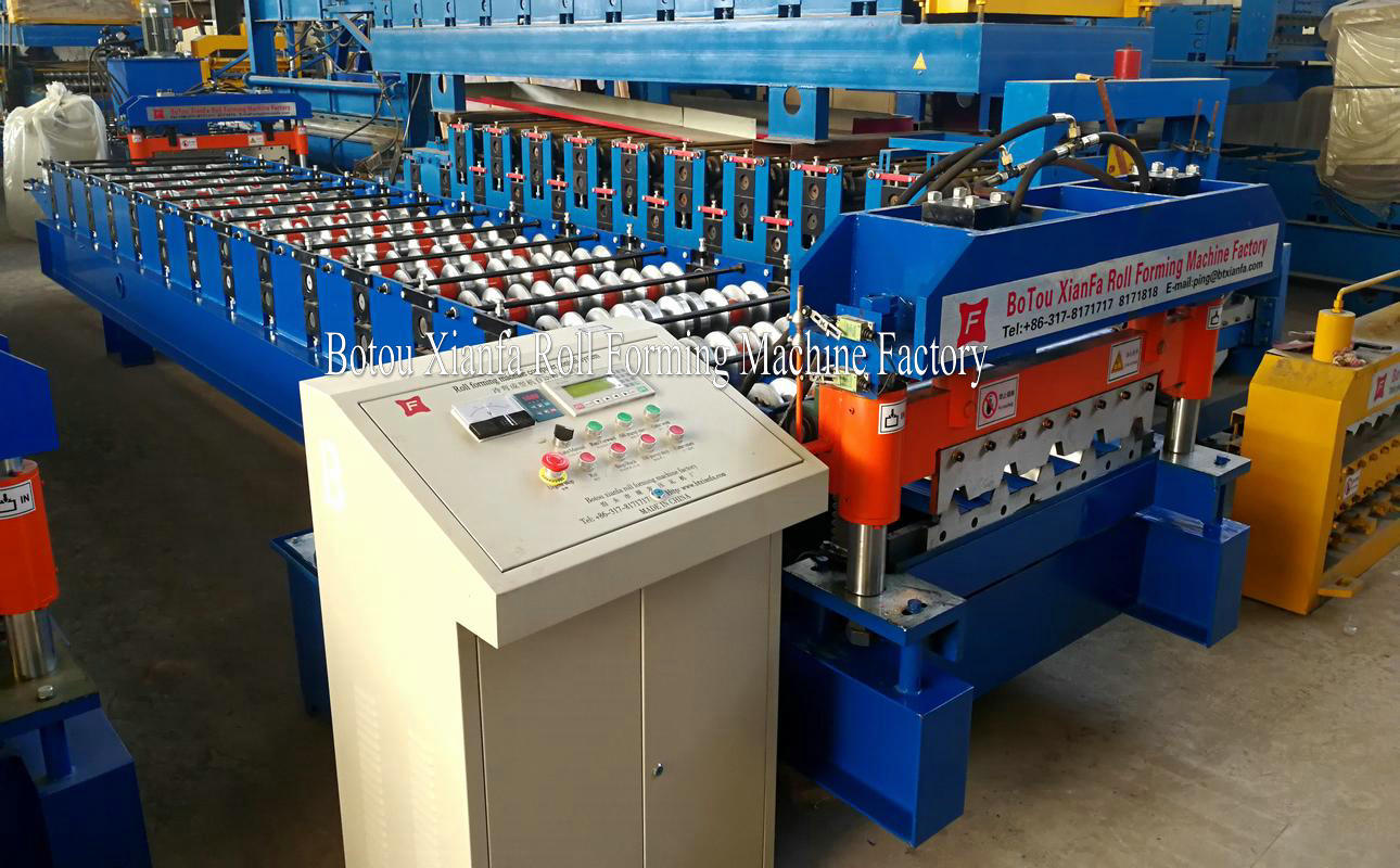 automatic aluminum panel roofing roll forming machine