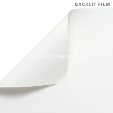 A4 backlit film for inkjet printing