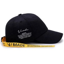 Custom 100% cotton baseball cap with long strap