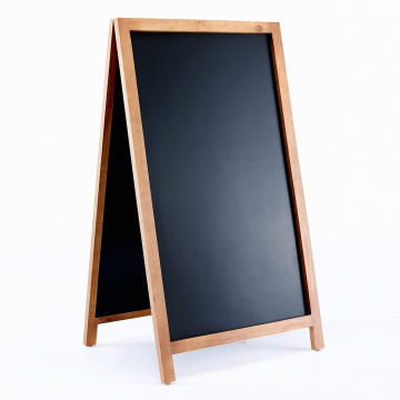 Vintage Wooden Magnetic A Frame Chalkboard Sign for Sidewalk, Restaurant, Cafe, Bar