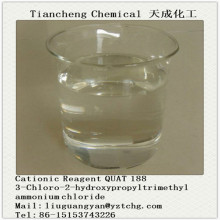 Leading for 69% 3-Chloro-2-Hydroxypropyltrimethyl Ammonium Chloride QUAT 188 CATIONIC REAGENT 69% ACTIVE(3-CHLORO-2-HYDROXYPROPY L TRIMETHYL AMMONIUM CHLORIDE) supply to Gibraltar Factory