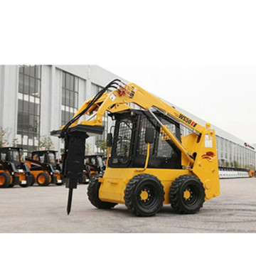 Excellent quality control skid steer loader with backhoe