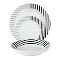18 Piece Coupe Porcelain Dinner Set with decal