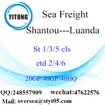 Shantou Port Sea Freight Shipping To Luanda