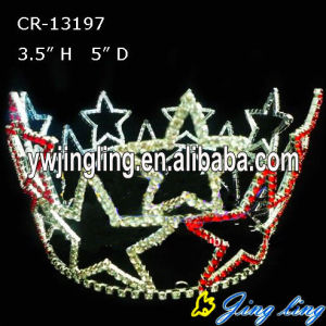 Full Round Crown Patriotic Pageant Crown