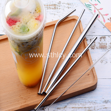 304 Stainless Steel Straw Milk Tea Coffee