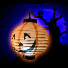 Pumpkin Paper Lanterns 10 Piece