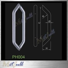 Diamond Style Back-to-Back Glass Door Pull Handle
