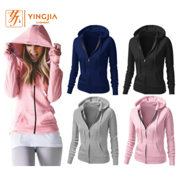 Autumn Custom Women Top Quality Zipper Hoodies Sweatshirts