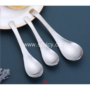 Home Restaurant Hotel Court Spoon Stainless Steel Spoon
