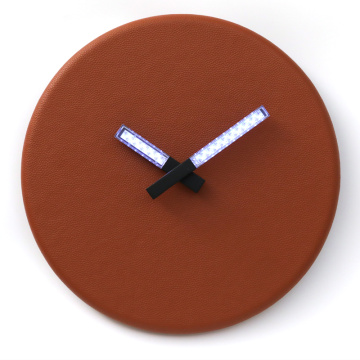 Hot Sale for Mid Light Wall Light Round Wall Clock Orange Color with Light export to Martinique Supplier