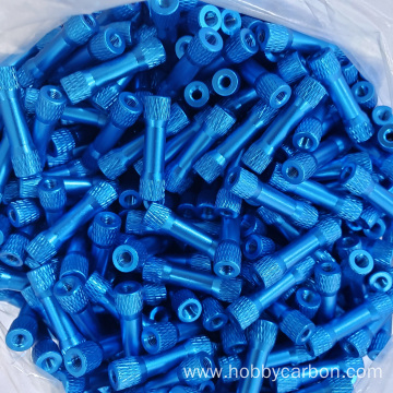 M3X6.3X20mm blue color round texture step aluminum standoff