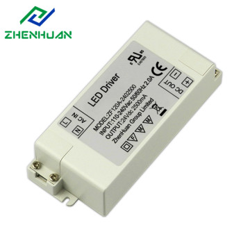 60W 24V 2.5A hvit Led Light Driver Transformer
