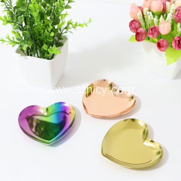 Stainless Steel Heart-shaped Jewelry Plate