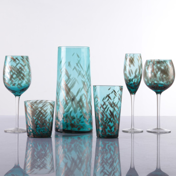 Unique Designed Colored Drinking Glass Cups