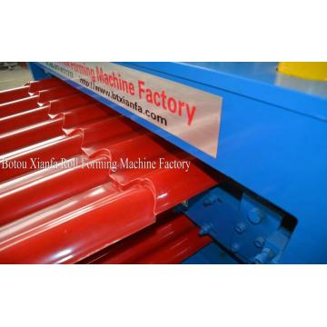 Double Corrugated Rood Sheet Metal Roll Forming Machine