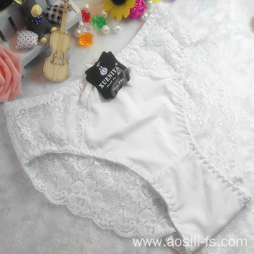 new style China wholesale cheap white sexy women little flowers lace swimming cloth fancy underwear 9879