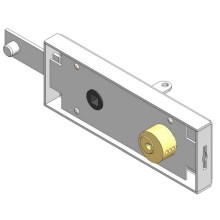 Garage Door Lock With Brass Key