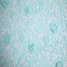 Elegant Mily Yarn 3D Flower Chemical Lace Fabric