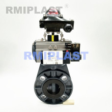 PPH Pneumatic Butterfly Valve Double Acting Type