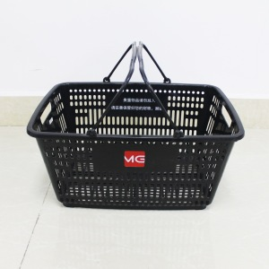 Ordinary Discount for Supermarket Shopping Cart wholsale Supermarket plastic carry black shopping baskets supply to Armenia Manufacturer