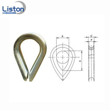 Durable Stamping Carbon Steel Wire Rope Thimble