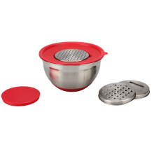 Non-Slip Stainless Steel Mixing Bowls with Lids