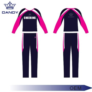 Good Quality for Youth Cheerleading Uniforms simple design long top boys cheering kit supply to Maldives Exporter
