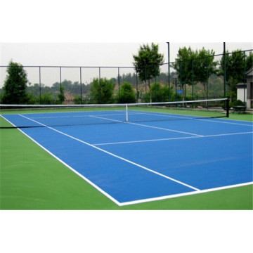 Tennis court acrylic court ground