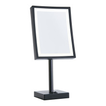 square lighted shaving mirror