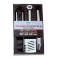 3pcs bbq set stainless steel in window box