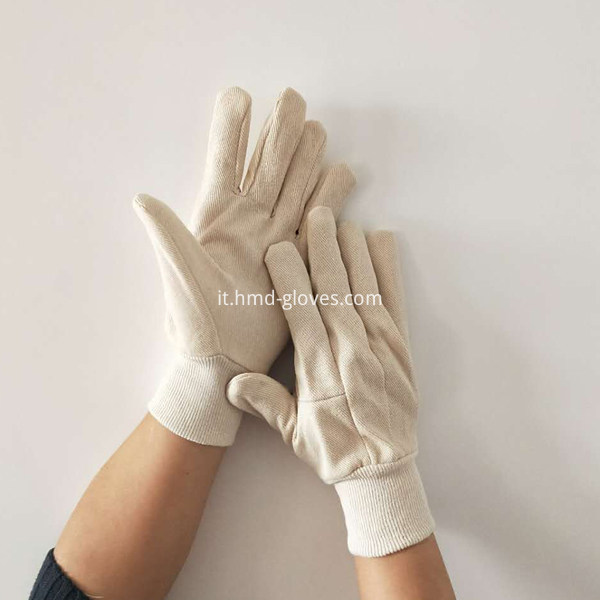 Nature White Canvas Gloves