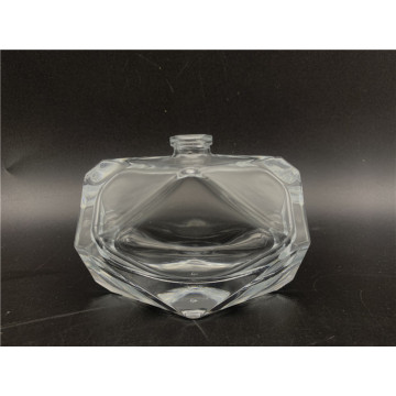 Elegant 50 ml diamond-shaped empty glass perfume bottle